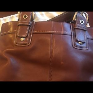 Coach Bags - Brown Leather Coach Shoulder Bag